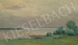 Halasi Horváth István - Balatoni vitorlások (Eső utáni fények a Fenyvesi partnál), 1939
