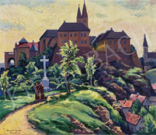 Eladó Conrád Gyula - Veszprémi várnegyed festménye
