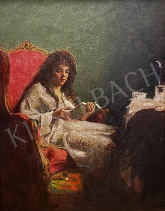Eladó Glatter Ármin - Olvasó lány festménye