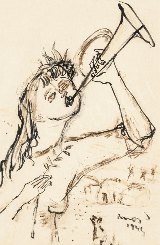 Ámos Imre - Harsonaszó (Hírnök), 1943   66. Aukció aukció / 1 tétel