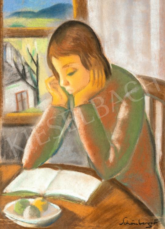 Schönberger Armand - Olvasó lány | 66. Aukció aukció / 4 tétel