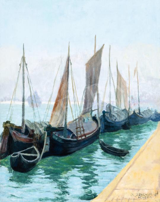 Csejtei Joachim Ferenc - Velencei kikötő (Vitorlások), 1920-as évek | 66. Aukció aukció / 7 tétel