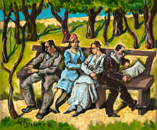 Scheiber Hugó - Parkban, 1930-as évek | 66. Aukció aukció / 10 tétel