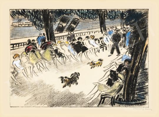 Vaszary János - Dunakorzó, 1935 körül | 66. Aukció aukció / 12 tétel