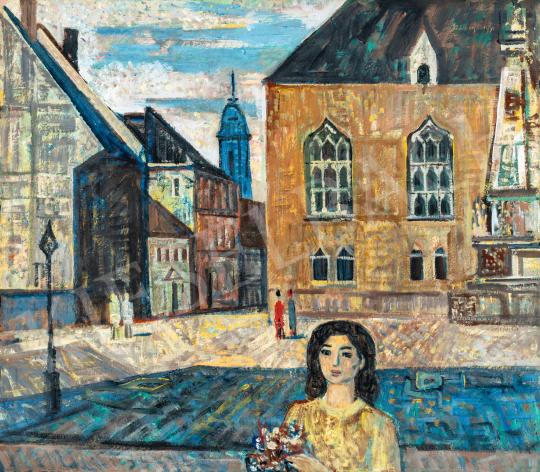 Szentgyörgyi Kornél - Szentháromság tér a Budai várban, 1970 körül   66. Aukció aukció / 15 tétel