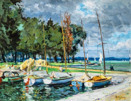 Boldizsár István - Balatoni hajókikötő (Balatonföldvár) | 66. Aukció aukció / 17 tétel