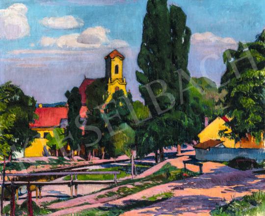 Kosztolányi Kann Gyula - Késő délután (Szentendre), 1910 körül   66. Aukció aukció / 18 tétel