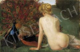Páldy, Aladár - Nude with a Peacock