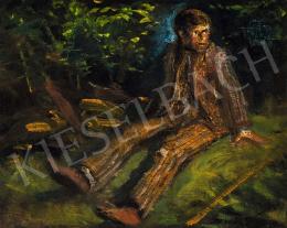 Mednyánszky László - Csavargó az erdőben