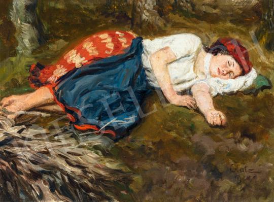 Glatz Oszkár - Déli pihenő (Rőzsehordó) | 66. Aukció aukció / 31 tétel