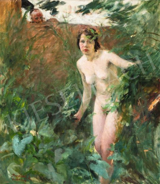 Benkhard Ágost - Kertben, 1929 | 66. Aukció aukció / 32 tétel