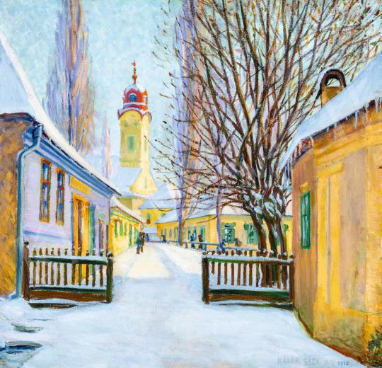Kádár Géza - Téli utca Nagybányán, 1912 | 66. Aukció aukció / 33 tétel