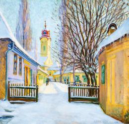 Kádár Géza - Téli utca Nagybányán, 1912