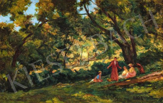 Nádler Róbert - Gesztenyefák árnyékában, 1907 körül | 66. Aukció aukció / 36 tétel
