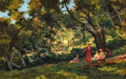 Nádler Róbert - Gesztenyefák árnyékában, 1907 körül