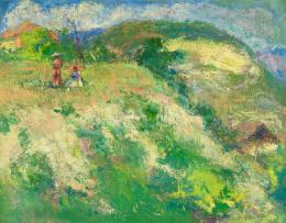 Burghardt Rezső - Hölgyek napernyővel a szabadban