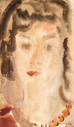 Márffy Ödön - Csinszka gyöngysorral, 1947