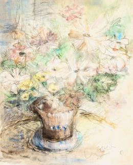 Czóbel Béla - Műtermi virágcsendélet
