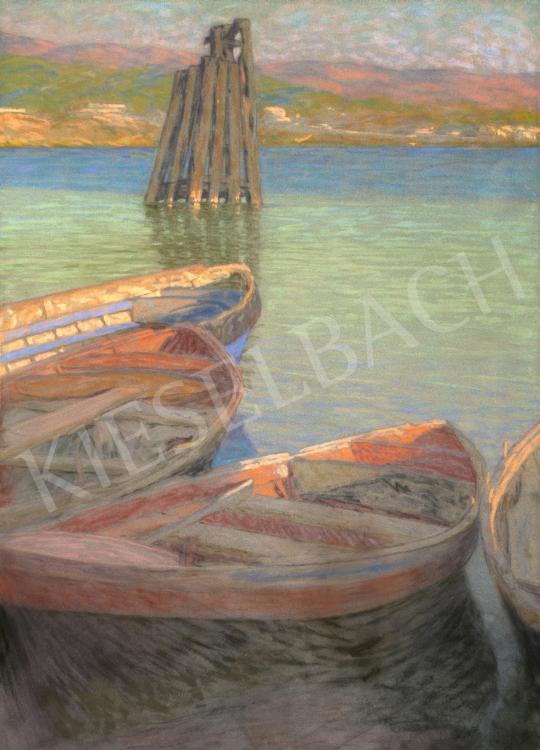 Poll Hugó - Hajók a kikötőben | 66. Aukció aukció / 50 tétel