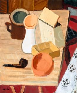 Berény, Róbert - Still-Life with Pipe (Still-Life with Mug), 1930