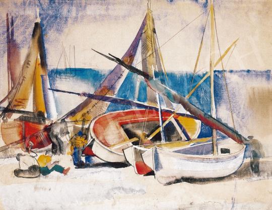 Aba-Novák Vilmos - Csónakok, 1929 | 22. Aukció aukció / 6 tétel