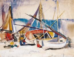 Aba-Novák Vilmos - Csónakok, 1929