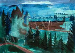 Bernáth Aurél - Azúrkék táj, 1928-1930 körül