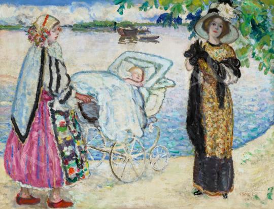 Csók István - Dunaparton, 1911 | 66. Aukció aukció / 169 tétel