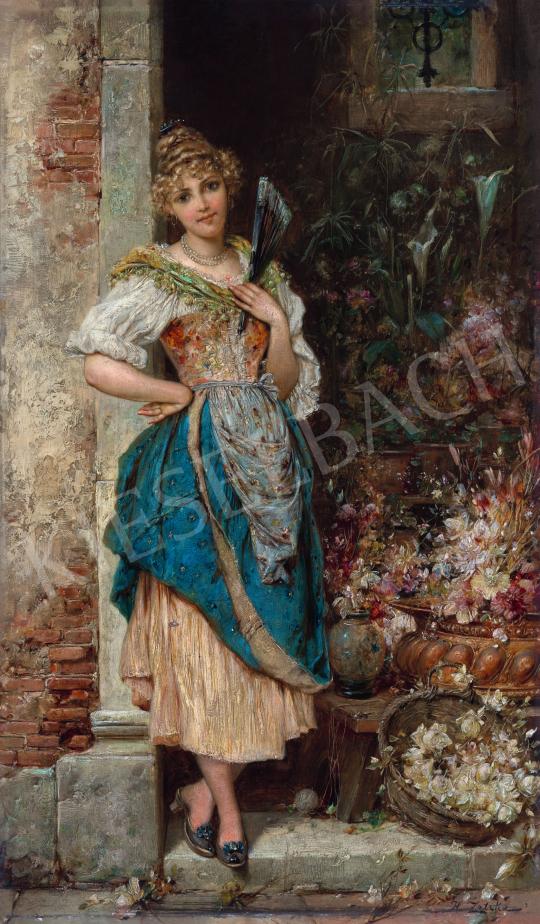 Zatzka, Hans - Velencei virágárus lány | 66. Aukció aukció / 23 tétel