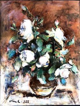 Vass Elemér - Virágcsendélet 1953