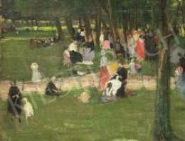 Ismeretlen festő, 1910-es évek - Parkban