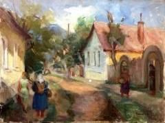 Eladó Farkas Eszter - Nagymarosi táj  festménye