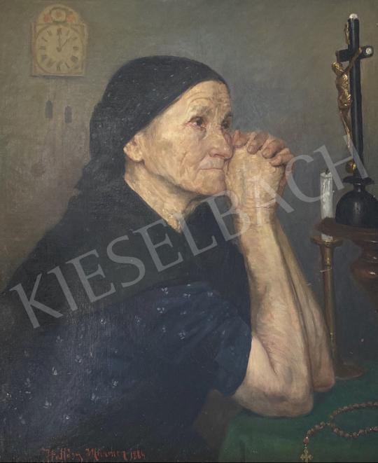 Eladó Hollósy Simon - Ima 1884  festménye