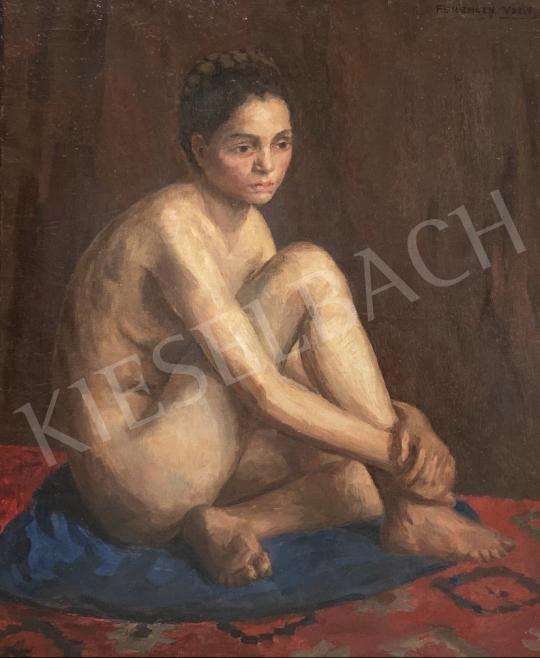 Ferenczy Valér - Ülő női akt  festménye