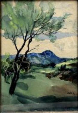Jeges Ernő - Táj fákkal