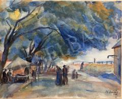 Eladó  Bánáti Sverák József - Hazafelé 1928  festménye