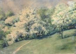 Ismeretlen festő - Virágzó fák