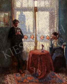 Gimes Lajos - Fiatal pár szobában