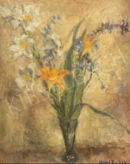 Vass Elemér - Fehér és Tűzliliom vázában, 1953