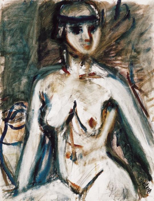 Czóbel Béla - Nő kék hajpánttal | 22. Aukció aukció / 9 tétel