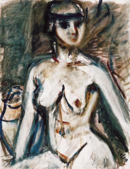 Czóbel Béla - Nő kék hajpánttal