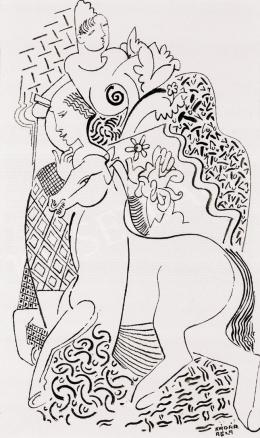 Kádár Béla - Szerelmespár lóval