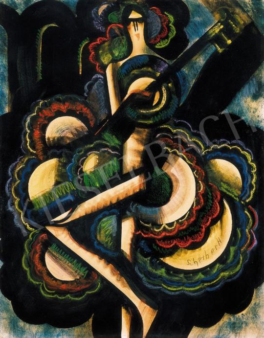 Scheiber Hugó - Táncosnő gitárral | 22. Aukció aukció / 12 tétel