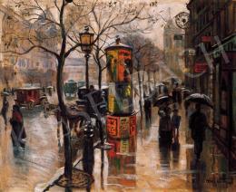 Pólya Tibor - Őszi eső a körúton