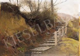 Edvi Illés Aladár - Lépcső a domboldalon