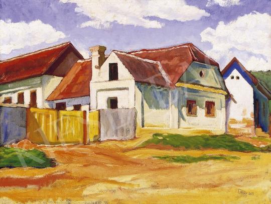 Pittner Olivér - Napsütötte utca Nagybányán   5. Aukció aukció / 164 tétel
