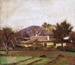 Réthy Károly - Nagybányai táj, háttérben a Kereszhegy