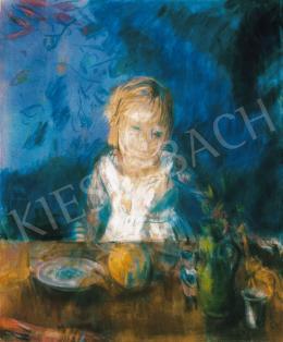 Bernáth Aurél - Marili kék háttér előtt (Születésnap)