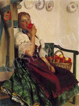 Pap Emil - Almát evő lány