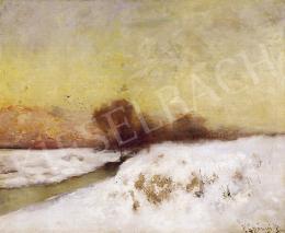 K. Spányi Béla - Téli táj alkonyatkor